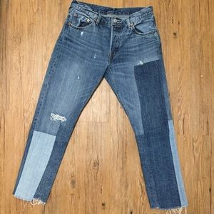 LEVI Patchwork Denim Jeans